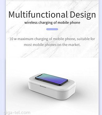 Wireless charger and UV-C sterilizing box V58