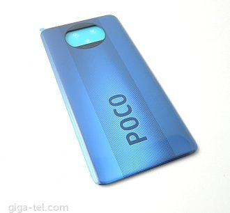 Xiaomi Poco X3 battery cover blue