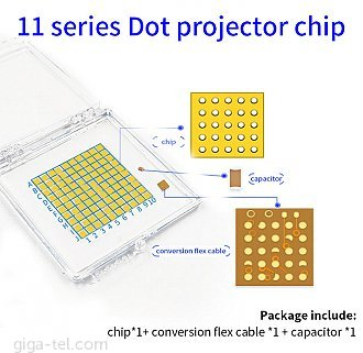 SET  3pcs IC chipy for repair Face ID ( 118671 + 118672) - top quality! for JC boxes