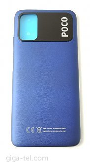 Xiaomi Poco M3 battery cover blue