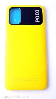 Xiaomi Poco M3 battery cover yellow